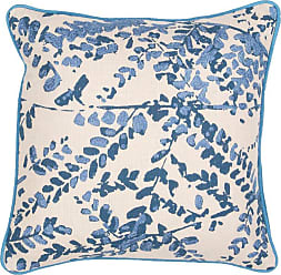 Jaipur Living Rugs Jaipur Floral Cotton Decorative Pillow - Blue Down Fill - PLW102422