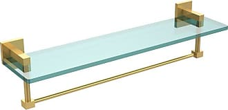 Allied Brass Montero 22 in. Glass Vanity Shelf with Integrated Towel Bar - MT-1-22TB-ABR