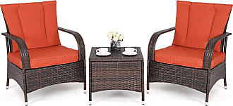 Costway 3 pcs Outdoor Patio Rattan Wicker Furniture Set
