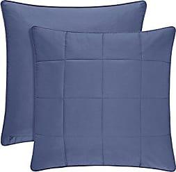 Five Queens Court Clayton 100% Brushed Cotton Euro Pillow Sham, Blue