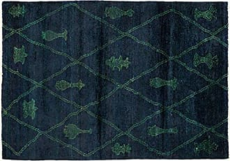 Solo Rugs Moroccan Hand Knotted Area Rug 3 10 x 5 10 Blue