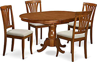 East West Furniture POAV5-SBR-C 5 Piece Kitchen Dinette Table and 4 Chairs