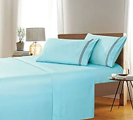 Ben&Jonah Ben & Jonah Simple Elegance by Ben&Jonah King Size Embroidered Butterfly 4 Piece Aqua Sheet Set