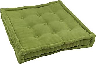 Blazing Needles Square Corded Floor Pillow with Button Tufts, 25, Mojito Lime