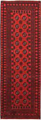 Nain Trading Handknotted Afghan Akhche Rug 711x29 Runner Dark Brown/Rust (Wool, Afghanistan)