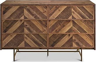 Apt2B title - Mahogany Wood Chevron Pattern Mid-Century Modern Bedroom Furniture sold by Apt2B