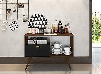 Estilare Aparador Buffet Bar 1 Porta Basculante BR55 Punk - Preto