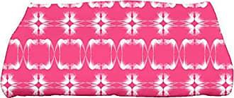 E by Design Ebydesign Summer PicnicGeometric Print Bath Towel 28 x 58 Pink