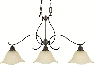 Feiss F2048/3GBZ Morningside Chandelier - Billiard in Grecian Bronze finish with Cream Snow Glass Shade