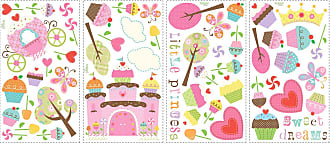 RoomMates Happi Cupcake Land Peel and Stick Wall Decals - RMK1605SCS