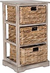 Ashley Furniture Three Tiered Basket Storage Shelf, Vintage White