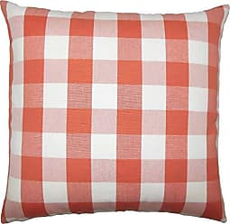 The Pillow Collection Nelson Plaid Bedding Sham Papaya Queen/20 x 30