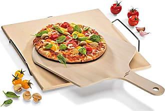 38 x 36 x 5 cm K/üchenprofi Pizza Stone 38x35,5cm with Stand White//Silver Cordierit