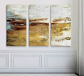 WEXFORD HOME Golden Twilight 3 Panel Gallery Wrapped Canvas Wall Art, 24x36