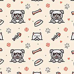Lar Adesivos Papel de Parede Adesivo Animais Pet Shop Cachorros N4357