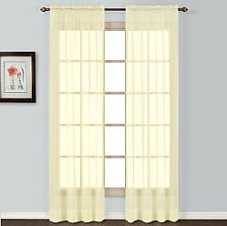 United Curtain Batiste Semi-Sheer Window Curtain Panel, 54 by 84-Inch, Yellow