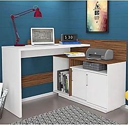 Olivar Móveis Escrivaninha Mega Office Branca e Amêndoa - única