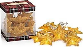 Zodax 50 Long String Christmas Star, Gold (Set of 2) Lighting