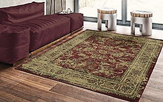 Ottomanson Royal Collection Distressed Oriental Floral Design Area Rug, 53 X 70, Red
