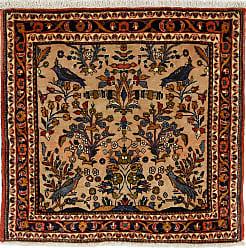 Nain Trading Handknotted Hamadan Rug 32x33 Square Dark Grey/Brown (Wool, Iran/Persia)