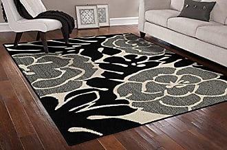 Garland Rug Valencia Area Rug, 8 x 10, Black/Ivory