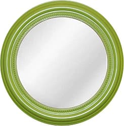 Hickory Manor House Round Beaded Mirror, 20-Inch, Luau Green
