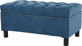 Jennifer Taylor Home Renee Backless Tufted Storage Bench with Nailhead Trim - 85114-867
