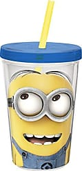 Zak designs Zak! Designs Insulated Tumbler with Screw-on Lid and Straw and Despicable Me 2 Minions Graphics, BPA-free Plastic, 13-ounce