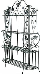 Heather Ann Creations W190941-BB Piper Large Bakers Rack, Blackened Brass