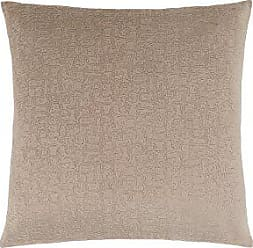 Monarch Specialties I 9270 Decorative Throw Pillow Mosaic Velvet 18x18 Taupe