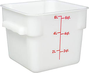 Winco USA Winco Square Storage Container, 6-Quart, White
