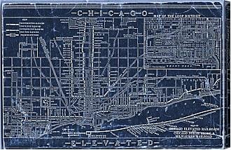 Hatcher & Ethan Chicago Railroad Blueprint Map Canvas Art - HE11597_60X40_CANV_XXHD_HE