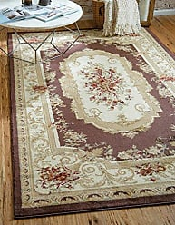 Unique Loom Versailles Collection Traditional Classic Brown Area Rug (3 x 5)