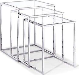 Whiteline Terzi Nesting End Tables - Set of 3 - ST1388