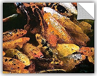 ArtWall Linda Parkers Cluster Of Koi Removable Wall Art Mural, 24 x 32