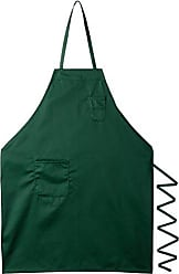 Winco USA Winco BA-PGN Full Length Bib Apron with Pocket, Green