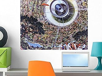 Wallmonkeys Interior View of a Bernal Sphere Space Colony for 10 Wall Decal Peel and Stick Graphic WM357168 (24 in W x 18 in H)