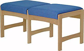 Wooden Mallet DW5-2 2-Seat Bench, Light Oak/Powder Blue