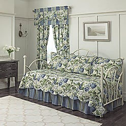 Ellery Homestyles WAVERLY Floral Flourish Daybed Set, 105x54, Porcelain