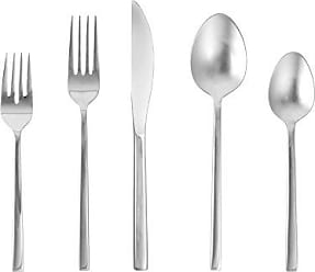 Fortessa Arezzo 18/10 Stainless Steel Flatware, 5 Piece Place Setting, Service for 1, Polished Stainless