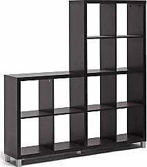 Ashley Furniture Sunna Modern Cube Shelving Unit, Dark Brown
