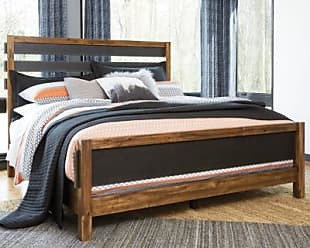 Ashley Furniture Harlynx King Panel Bed, Brown/Gray
