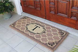 First Impression Gayle Ogee Monogrammed Entryway Double Door Mat - A1HOME200106-A