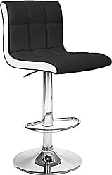 Vandue Modernhome Boris Contemporary Leather Adjustable Barstool - Black/White