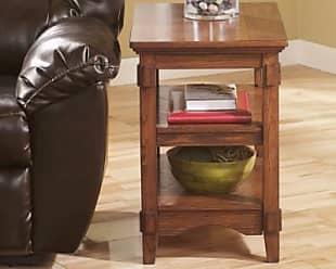 Ashley Furniture Cross Island Chairside End Table, Medium Brown