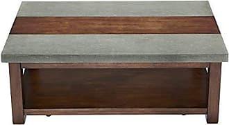 Progressive Furniture P426-01 Cascade Cocktail Table, Nutmeg/Cement