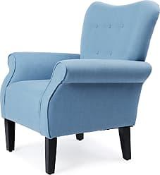 Overstock Belleze Modern Wingback Accent Chair Armrest Linen with High Backrest (Beige)