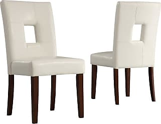 Weston Home Madelin Keyhole Dining Chair - Set of 2 - 874C713WMTL2PC