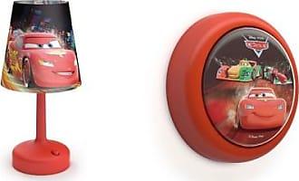 Philips Disney Cars Table Lamp w/ Philips Disney Pixar Cars LED Night Light