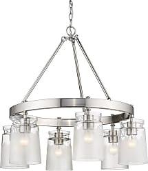 Golden Lighting 1405-6-CAG Travers 6 Light 28 Wide Ring Chandelier